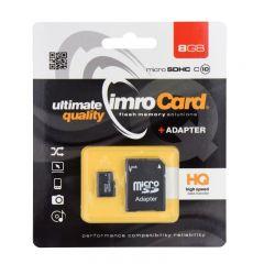 Card microSD HC 8GB, clasa 4, Imro