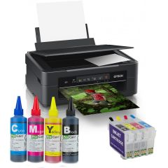 Multifunctionala Epson Expression Home XP-255 inkjet, Wireless,  cu cartuse reincarcabile si cerneala