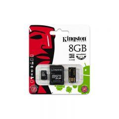 Kit card memorie microSDHC 8GB, clasa 4, adaptor microSD/USB, Kingston
