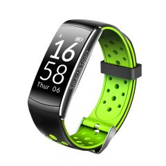 Bratara fitness Bluetooth, Android, iOS, OLED 0.96 inch, IP68, SoVogue, Verde-Negru