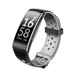 Bratara fitness Bluetooth, Android, iOS, OLED 0.96 inch, IP68, SoVogue, Gri-Negru