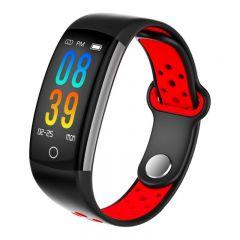 Bratara fitness bluetooth 4.0, TFT , 9 functii, Android iOS, IP68, SoVogue, rosu