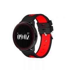 Bratara Smart Bluetooth monitorizare cardiaca, calorii, pedometru, notificari, rosu, SoVogue