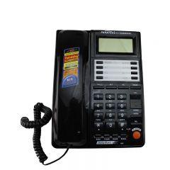 Telefon fix, sistem dual FSK/DTMF, ecran LCD 12 digiti, memorie 500 numere, negru