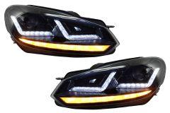 Faruri Osram LED compatibil cu VW Golf 6 VI (2008-2012) Black LEDriving Semnal Dinamic