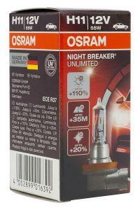 Becuri Auto Halogen compatibil cu far Osram Night Breaker Unllimited H4 12V 60/55W