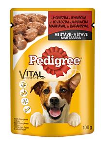 Hrana umeda completa pentru caini adulti cu vita si miel Pedigree 100g