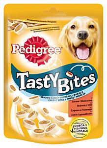 Hrana complementara cu branza si aroma de vita pentru caini adulti Pedigree Tasty Minis 140g
