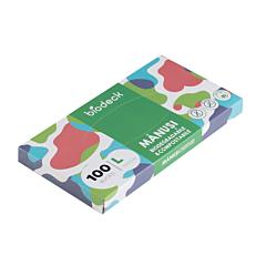 Manusi biodegradabile de unica folosinta, 100 bucati, Biodeck