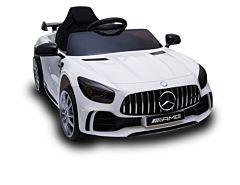 Masina Mercedes Benz cu baterie 12 V Biemme, 110 x 67 x 46 cm, Alb
