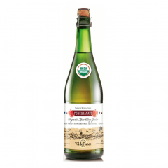 Suc de mere ecologic carbonatat cu aroma de rodii Val de France 0.75l