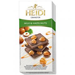 Ciocolata lapte cu alune de padure intregi Heidi Grand'Or 100g
