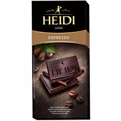 Ciocolata amaruie cu cafea Heidi 80g