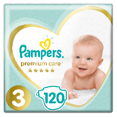 Scutece Pampers Premium Care Mega Box Marimea 3, 6-10 kg, 120 buc