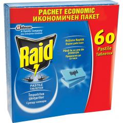 Pastile impotriva tantarilor Raid 60buc