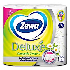 Hartie igienica Zewa Deluxe Camomile Comfort 4 role 3 straturi