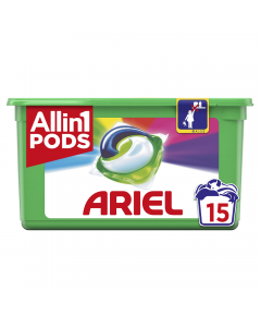 Detergent capsule 3in1 PODS Color Ariel 15 bucati