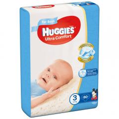 Scutece Huggies UC Baieti 3 80 buc, 5 - 9 Kg
