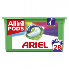 Detergent automat capsule Ariel 3in1 PODS Color, 28 capsule