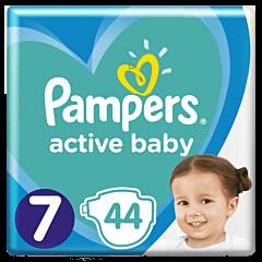 Scutece Pampers Active Baby Jumbo Pack, Marimea 7, 15+ kg, 44 buc