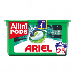 Detergent automat capsule Ariel 3in1 PODS +Touch Of Lenor Unstoppables, 25 spalari, 25 buc.