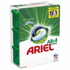 Detergent capsule Ariel All in One PODS Mountain Spring 75 spalari