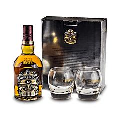 Pachet Whisky 0.7L Chivas Regal +2pahare