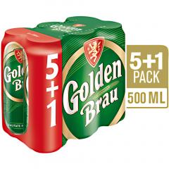 Bere blonda doza Golden Brau 6x0.5L (5+1)