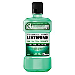 Apa de gura Teeth & Gum Defence fara alcool Listerine 500ml