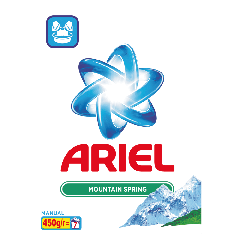 Detergent manual Ariel Mountain Spring 450g