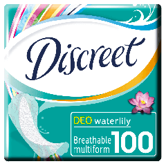 Pachet economic Absorbante zilnice Discreet Deo Waterlily Multiform 100buc