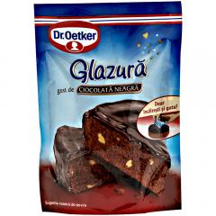 Glazura cu gust de ciocolata neagra Dr.Oetker 100g