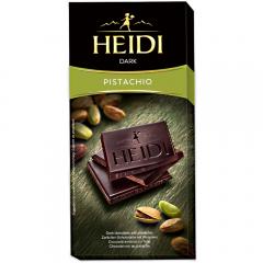 Ciocolata amaruie cu fistic Heidi 80g