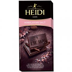 Ciocolata amaruie cu sare neagra Heidi 80g