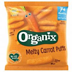 Sticksuri ecologice din porumb expandat cu morcoviOrganix FingerFoods20g