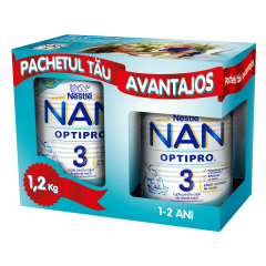 Pachet lapte praf pentru copii sugari 12 luni+ Nestle Nan 3 1.2kg