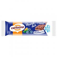 Baton de cereale cu afine Cerbona 20g