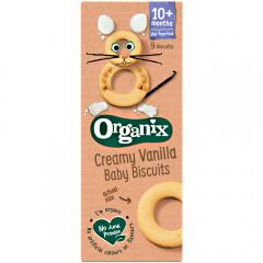 Biscuiti bebe 7+ luni cu lapte si vanilie Organix 54g