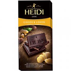 Ciocolata amaruie cu lamaie si ghimbir Heidi 80g