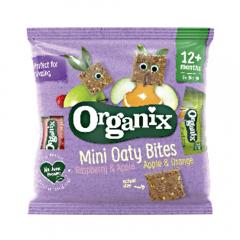 Mini batoane ecologice din ovaz integral 12+ Organix Goodies 110g