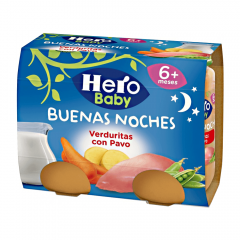 Meniu de seara curcan cu legume 6luni+ Hero Baby 2x190g