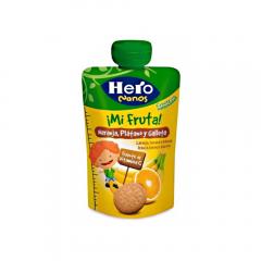 Desert cu fructe si biscuiti Hero Nanos 100g