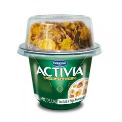 Iaurt clasic cu fulgi de cereale Mic-Dejun 3.3% grasime Activia 168g