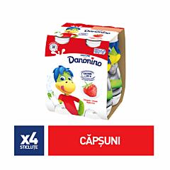 Pachet iaurt de baut cu capsuni Danone Danonino 4x100g
