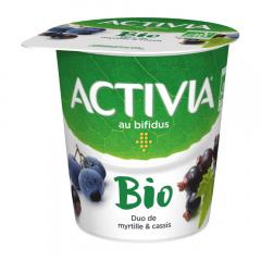 Iaurt Bio cu coacaze negre si afine 2,9% grasime  Activia 145g