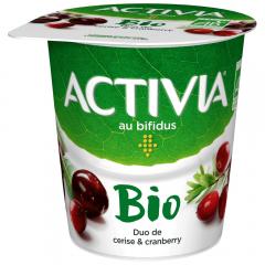Iaurt Bio cu visine si merisoare, 2,9% grasime Activia 145g
