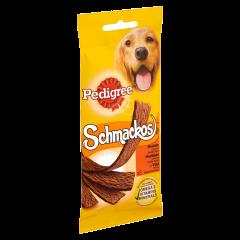 Hrana complementara cu vita pentru caini adulti Pedigree Schmackos 5buc