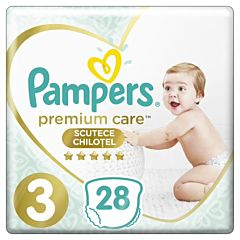 Scutece-chilotel Pampers Premium Care Pants Marimea 3, 6-11 kg, 28 buc