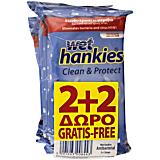 Servetele umede Wet Hankies 2 + 2 gratis 15buc