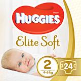 Scutece Huggies Elite Soft (nr 2), Convi pack, 24 buc, 4-6 kg